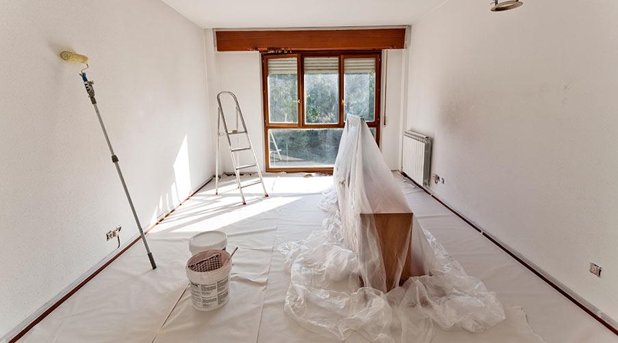 Renovering hemma för att skapa utrymme